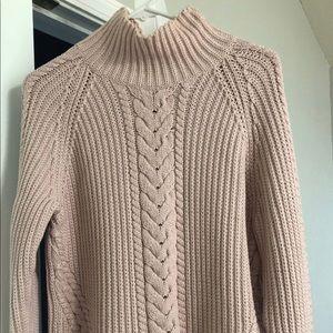 Lulu lemon light pink turtleneck sweater size 4